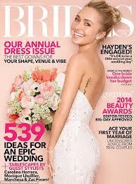 brides magazine hayden panettiere tries on wedding dresses for brides magazine