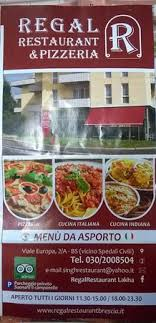 regal cuisine brochure picture of regal restaurant brescia tripadvisor