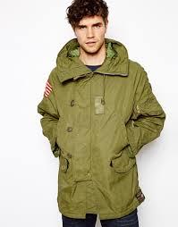 Green Parka Jacket Mens Ralph Lauren Denim Supply Ralph Lauren Parka Jacket In Green For