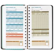 workout journal diary notebook fitness claudine gandolfi