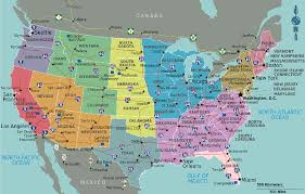 usa map map usa with cities major tourist attractions maps