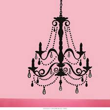 elegant chandelier silhouette giant wall decal removable decor zoom