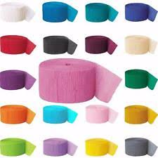 streamers paper crepe paper streamers balloons ebay