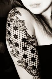 19 awesome lace tattoo designs images and pictures