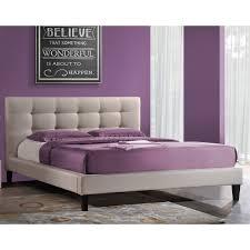 Purple Platform Bed by Baxton Studio Aisling Upholstered Platform Bed Hayneedle