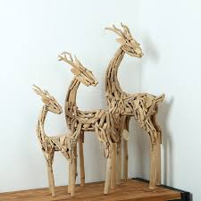 wooden arts and crafts handmade gift deer suit furnishing articles household soft