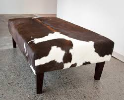 Hide Ottoman Cow Hide Ottoman Cymun Designs Within Cowhide Footstool Warm And