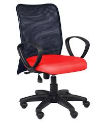 medium mesh back chair red one store for many things