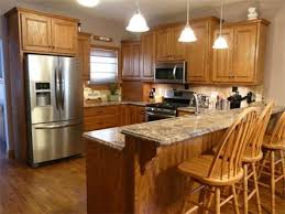 Kitchen Pictures With Oak Cabinets 89 Best Granite Kitchen Countertops Images On Pinterest Kitchen