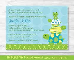 Walmart Baby Shower Invitation Cards Top 14 Turtle Baby Shower Invitations For You Thewhipper Com