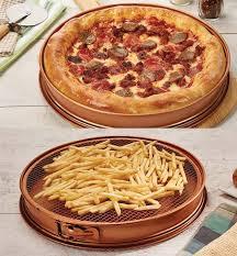 chef pizza copper chef pizza crisper pan asseenontvstore
