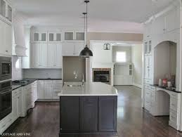 White Kitchen Cabinets With Black Island Kitchen Easy Painted Kitchen Cabinets Ideas For Kitchen Trends