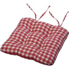 Dining Room Chair Pads And Cushions Tie On Square Gingham Chair Seat Pad Cushion Outdoor Garden Dining