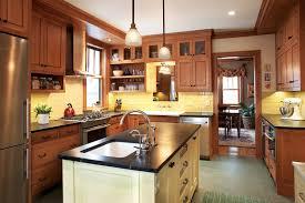 Arts And Crafts Style Kitchen Cabinets Kitchen Craftsman Kitchen Remodel Wonderful On Kitchen Within