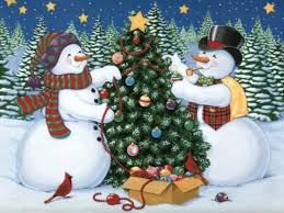 snowman christmas tree snowmen decorating a christmas tree pictures photos and images