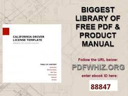 california driver license template youtube