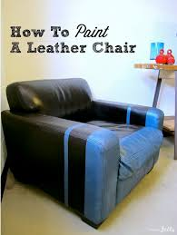 Can You Dye Leather Sofas How To Paint A Leather Chair Via Homejelly Diy How Tos