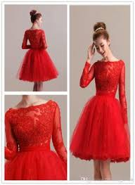 2015 cheap short homecoming dresses lace with long sleeves a line