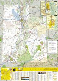 Utah Road Conditions Map by Utah National Geographic Guide Map National Geographic Maps