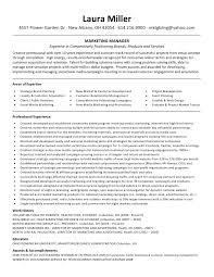 marketing manager resume marketing manager resume sle miller resume marketing