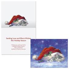 santa hat snuggles note card size christmas cards colorful images
