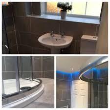 Shower Comfort Full Bathroom Remodel Including Whirlpool Bath Suspended