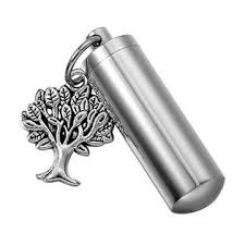 keepsake for ashes hooami tree of cylinder cremation urn necklace keychain