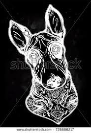 vintage style beautiful gothic bull terrier stock vector 726666217
