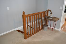 Premade Banister Diwyatt From Rickety Railing To Built In Bookcase Loving Here
