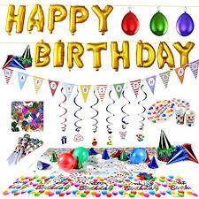 in party supplies joyin happy birthday party supplies set 100 pc