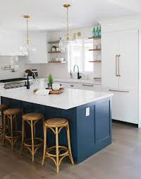 blue kitchen navy blue kitchens are gorgeous and trending purewow