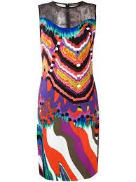 roberto cavalli geometric print bodycon shift dress t1057 women