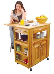 drop leaf kitchen island cart amazon com catskill craftsmen heart of the kitchen island with