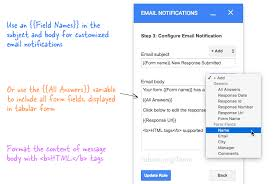 Resume Templates Google Drive How To Get Google Forms Data In An Email Message