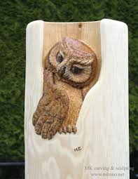owl wood carving woodcarving carved door sculpture by mk carving canada gallry1