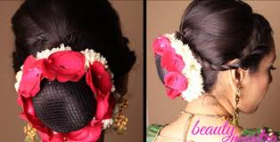 Easy Country Hairstyles by Hairstyle Easy Bridal Updo With Gajra And Rose Petals Youtube