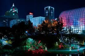 Oklahoma City Botanical Garden Okc Myriad Gardens Lights Madcar
