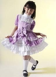 best selling purple bow kids dress salelolita com