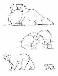 color sheets polar bears endangered animals coloring pages