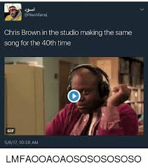 Studio Memes - maraj chris brown in the studio making the same song for the 40th