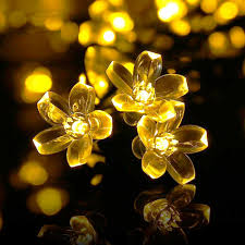 qedertek solar string lights 21ft 50 led fairy flower blossom qedertek solar string lights 21ft 50 led fairy flower blossom christmas decorative lighting for outdoor home lawn garden patio party and holiday