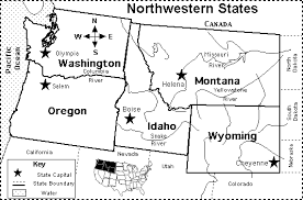 map usa northwest northwestern us states map quiz printout enchantedlearning
