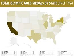Normal Illinois Map by Us Olympic Gold Medals By State Map Business Insider