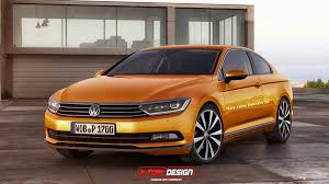 volkswagen orange new volkswagen passat rendered in shooting brake and gti editions