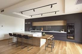 kitchen islands breakfast bar sleek handleless kitchen design