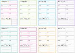 printable menu planner pages free printable weekly menu planner artsy fartsy mama