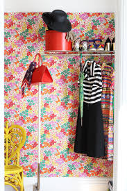 hang fabric as wallpaper apartment therapy