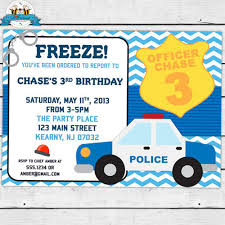 police birthday party invitation printable invitation