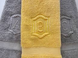 Gray And Yellow Bathroom by Personalized Hand Towels Hand Towel Bathroom Personalized