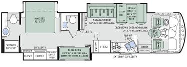 2015 challenger 37tb bunkhouse luxury gas class a motorhomes